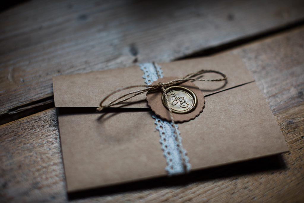 Umschlag der Einladungskarte